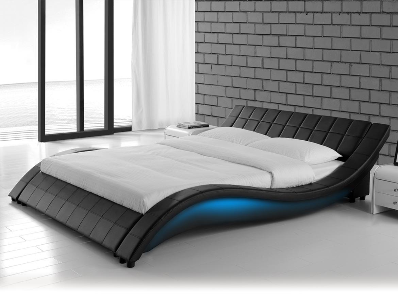 łóżko Tapicerowane Do Sypialni 160x200 839 Led Czarne Sklep Mwm