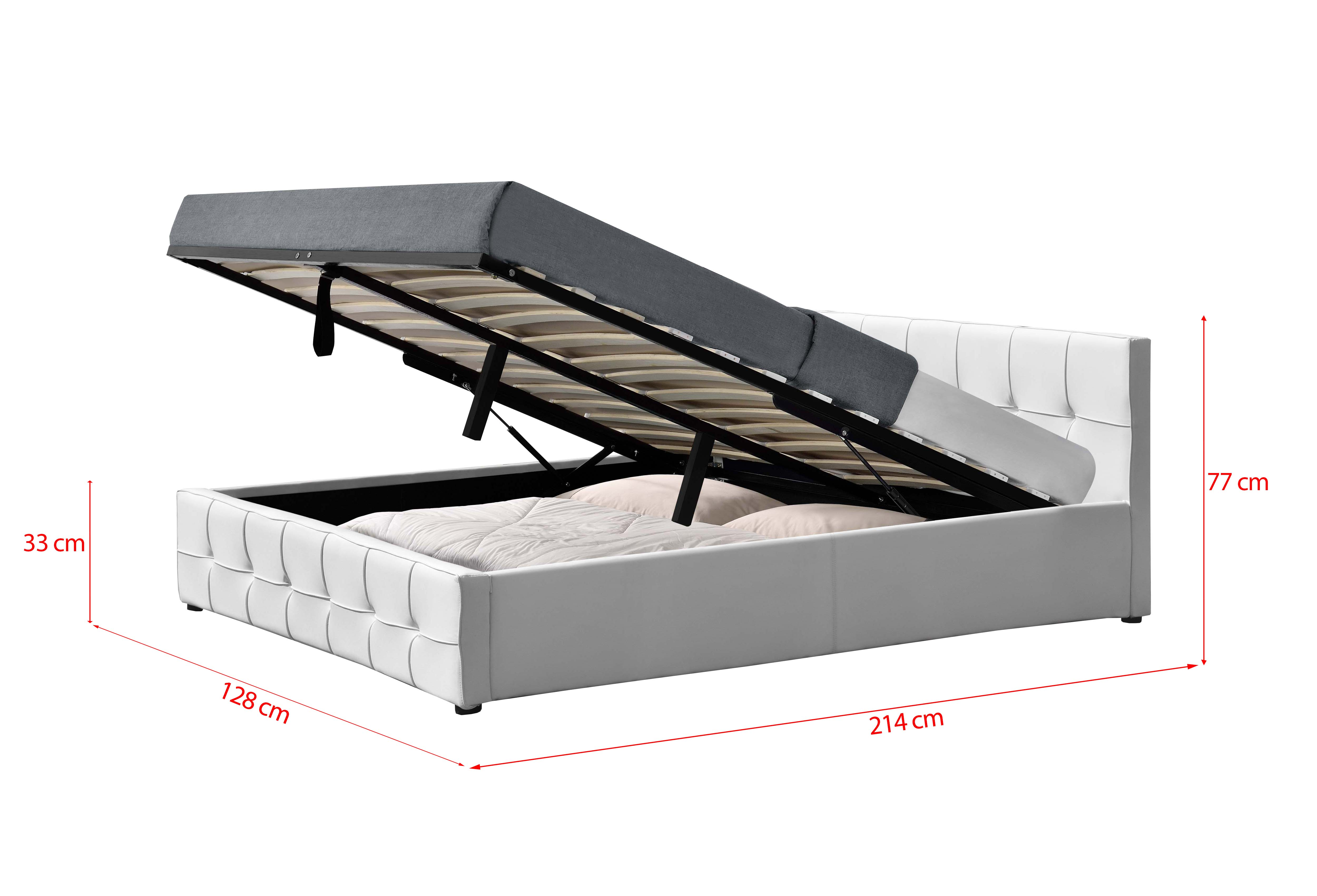 łóżko Z Materacem Tapicerowane 120x200 Sfg004 Białe