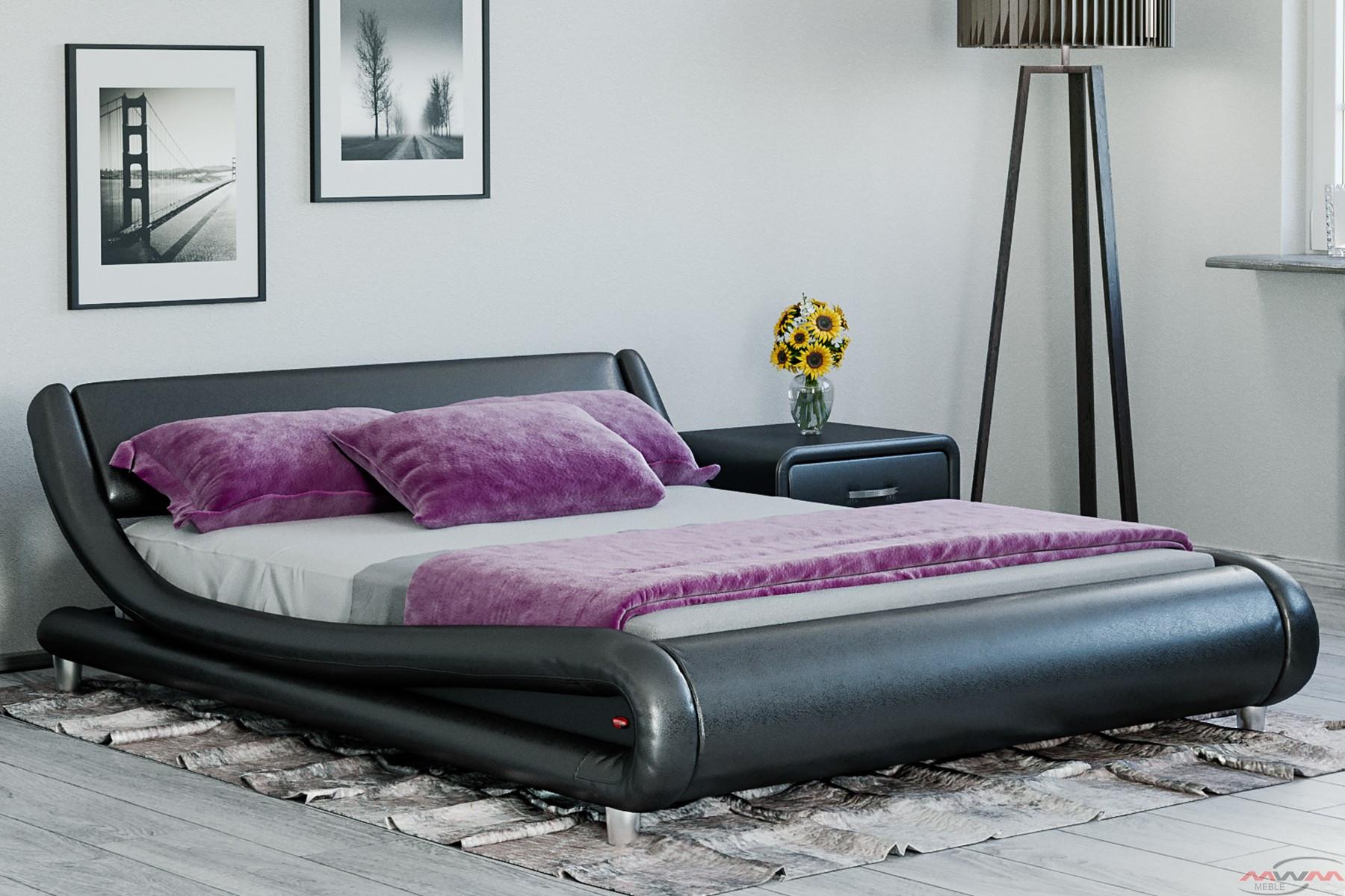 łóżko Tapicerowane Do Sypialni 140x200 114 Czarne