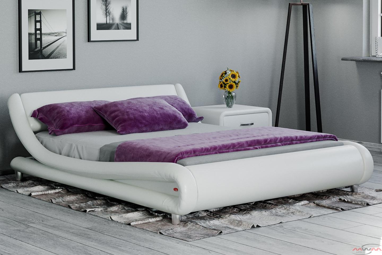 łóżko Tapicerowane Do Sypialni 140x200 114 Białe